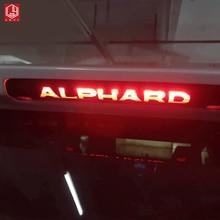 For alphard vellfire 2015 2019 Carbon Fiber Sticker Car High mounted stop lamp sticker Car Accessories