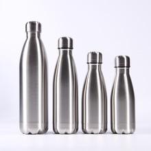 Портативная Спортивная бутылка для воды из нержавеющей стали, герметичная металлическая цветная уличная бутылка для напитков Cola для езды на велосипеде, путешествия, лагеря, термос для кока-колы