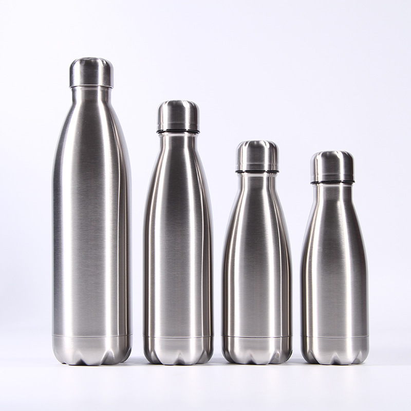Portable Stainless Steel Sports Water Bottle Leakproof Metal Color Outdoor Cola Drink Bottle for Cycling Travel Camp Cola Flask|Water Bottles| |  - AliExpress