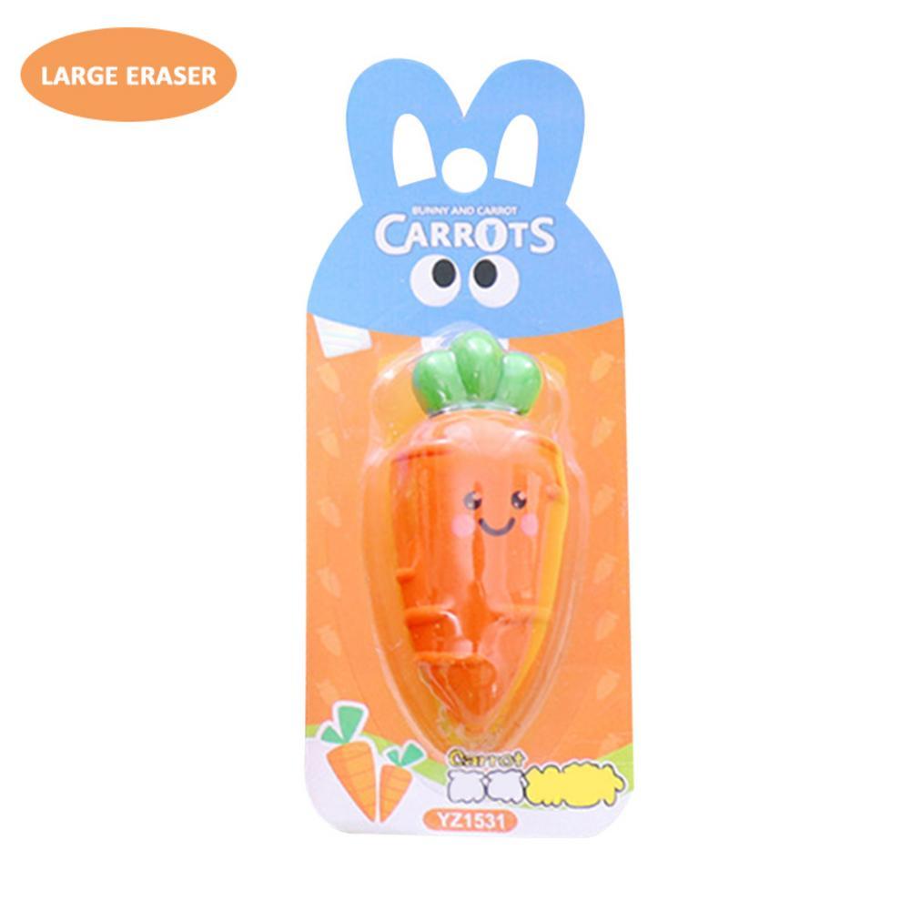 Mini Carrot Eraser Cute Cartoon Rubber Eraser Children Innovative Stationery School Office Correction Supplies For Kid Adult