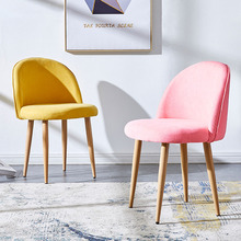 Nordic INS Leisure Solid Wood Soft Chair Dining Chairs for Dining Rooms Living Room Furniture Kitchen Bedroom Cafe Dining Chair