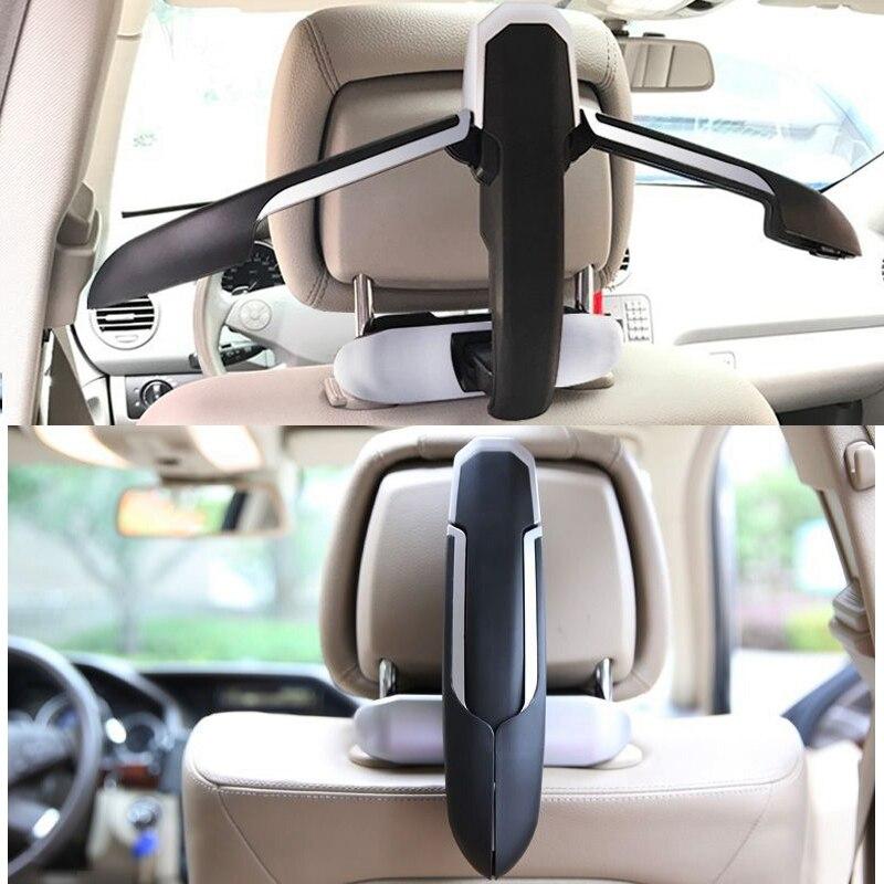 Offre spéciale mode voiture cintre en plastique costume Slip veste Auto siège arrière clip de fixation cintre pour vêtements sac en voiture