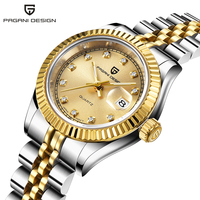 PAGANI DESIGN Top Brand Luxury Women Quartz Watches Fashion Sapphire Crystal Steel Band Calendar Luminous Waterproof Wristwatch