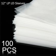 """100 шт. 1"""" PE виниловая пластмассовая пленка LP LD, антистатические пластмассовые пакеты для записи, наружная внутренняя пластиковая прозрачная крышка, контейнер"""