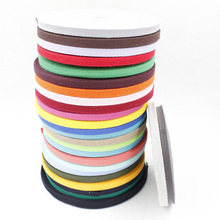New colourful 10mm 100% cotton ribbon webbing herring bonebinding tape lace trimming for packing accessories DIY