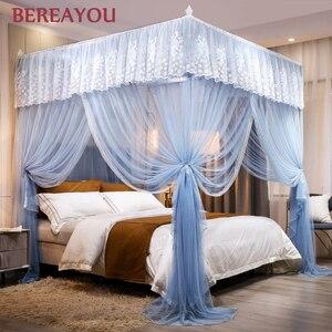 Роскошная противомоскитная сетка, кровать, балдахин, детский кружевной корт, стоящая москитная сетка, кровать принцессы, мантия, домашний д...