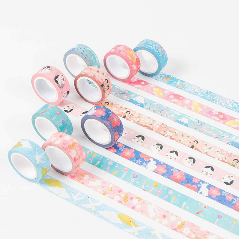 1 Pcs Lovely Kyoto Series Decoration Japanese Nail Decorative Washi Tape DIY Scrapbooking Masking Tape School Office Supply