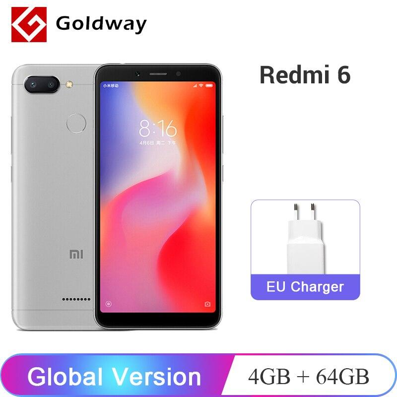 Global Version Xiaomi Redmi 6 4GB 64GB Smartphone Helio P22 Octa Core 5.45