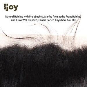 """Image 2 - שיער טבעי 4x13 תחרה פרונטאלית ישר/גוף גל/קינקי קרלי צבע טבעי 8 """" 20"""" M ברזילאי שיער פרונטאלית שאינו רמי IJOY"""