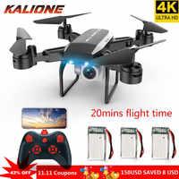 KY606D RC Drone 4K z kamerą HD Quadcopter 20 minut długi czas lotu fpv helikopter selfie Quadrocopter DRON zabawka dla dzieci chłopiec