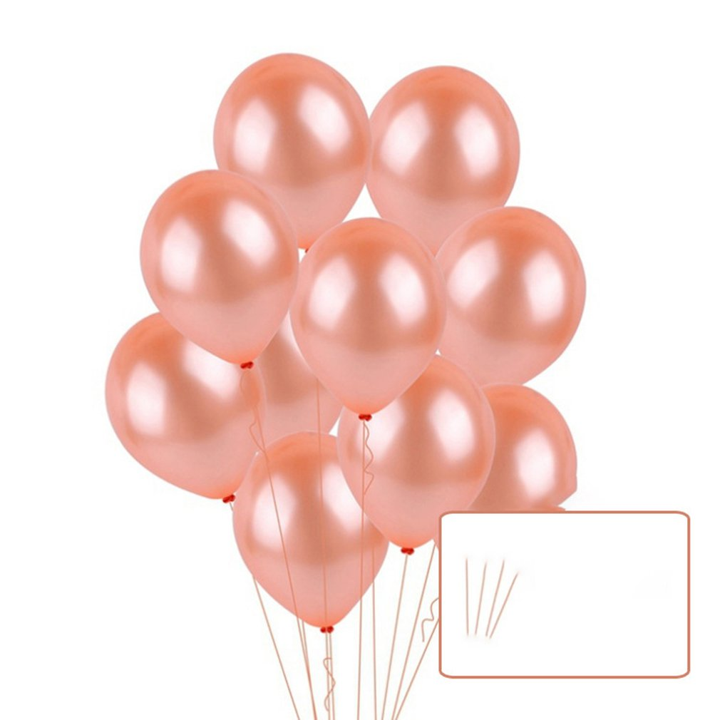 Beautiful 20PCS/SET 10 Inch Solid Rose Gold Balloons DIY Romantic Wedding Engagement Party Events Decoration