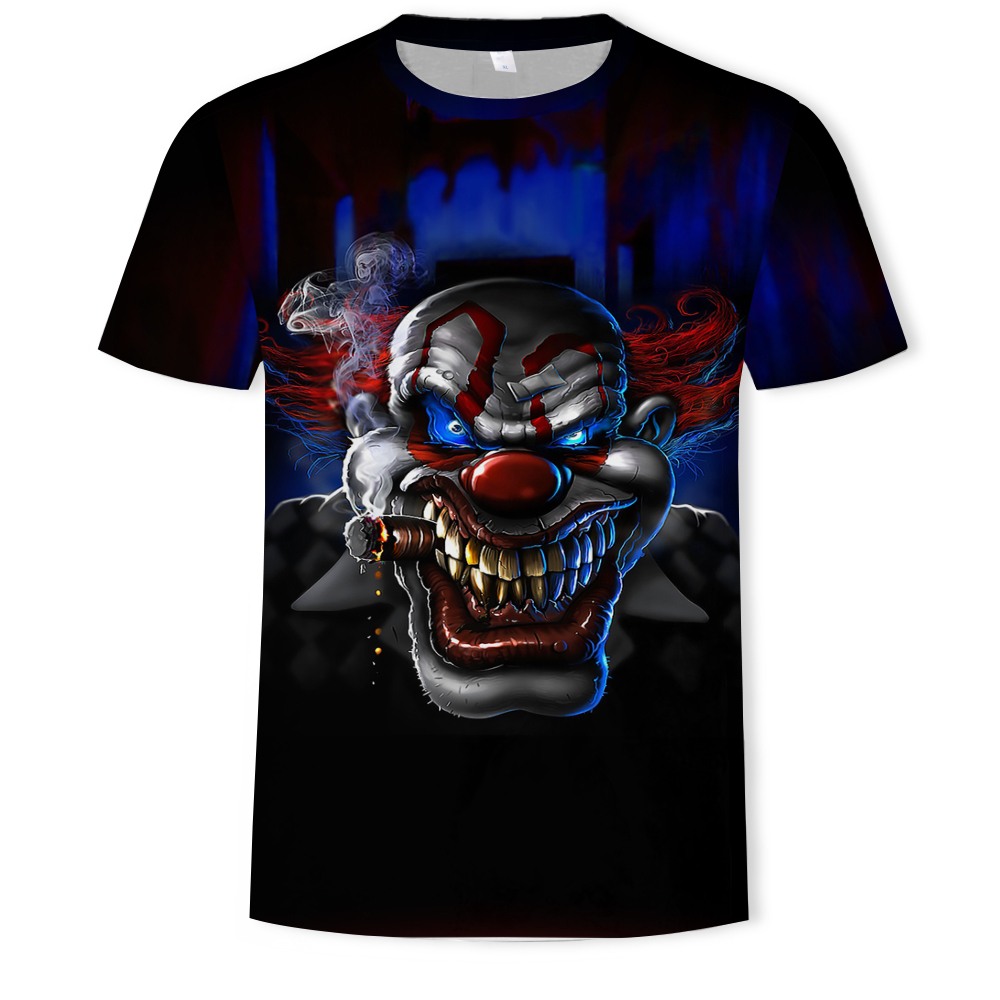 2019 new the Joker 3d t shirt funny comics character joker with poker 3d t-shirt summer harajuku style tees top full printing