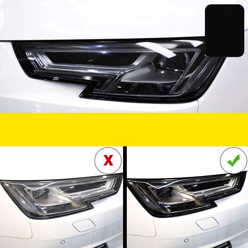 Lsrtw2017 TPU Car Transparent Black Headlight Protective Film Sticker For Audi A8 A6 Q5 A4 A3 Q3 A7 Q7 Q8 S3 S4 S5 S6 A5 Q2