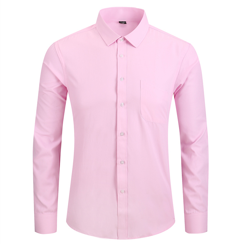 Plus Size 5XL 6XL 7XL 8XL Men Dress Shirt White Black Blue Pink Casual Long Sleeve Male Social Formal Shirt High Quality