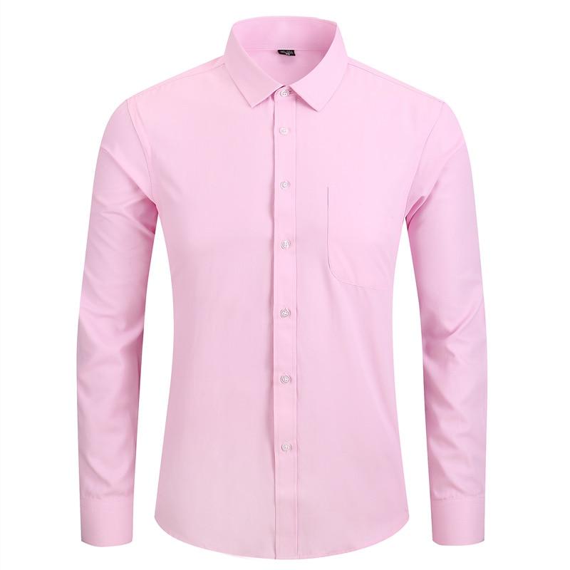 Plus Size 5XL 6XL 7XL 8XL Men Dress Shirt White Black Blue Pink Casual Long Sleeve Male Social Formal Shirt High Quality in Dress Shirts from Men 39 s Clothing