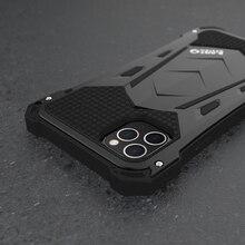 R JUST Cho Iphone 11 11Pro Max Cao Cấp Doom Giáp Làm Nhiệm Vụ Chống Sốc Kim Loại Nhôm Ốp Điện Thoại Cho Iphone 11 Pro Max XS XR 7 8 Plus