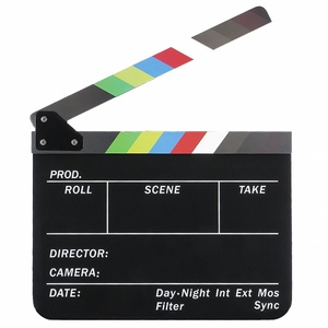 Dry Erase Director's Film Movie Clapboard Cut Action Scene Clapper Board Slate with Colorful Sticks