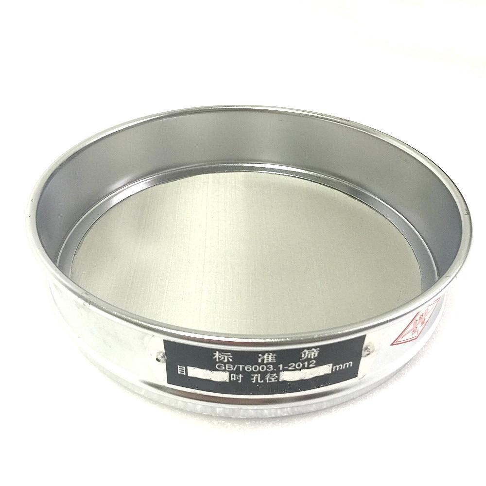 Test Sieve Sampling Inspection Pharmacopeia Laboratory Standard Sieve 304 SUS Filter Mesh Chroming Frame R30cm 325 Mesh/0.045mm