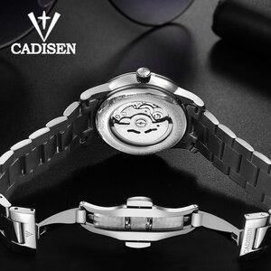 Image 5 - CADISEN גברים שעון אוטומטי מכאני ספיר יוקרה מותג 50ATM עמיד למים שעון זכר Reloj Hombre Relogio Masculino