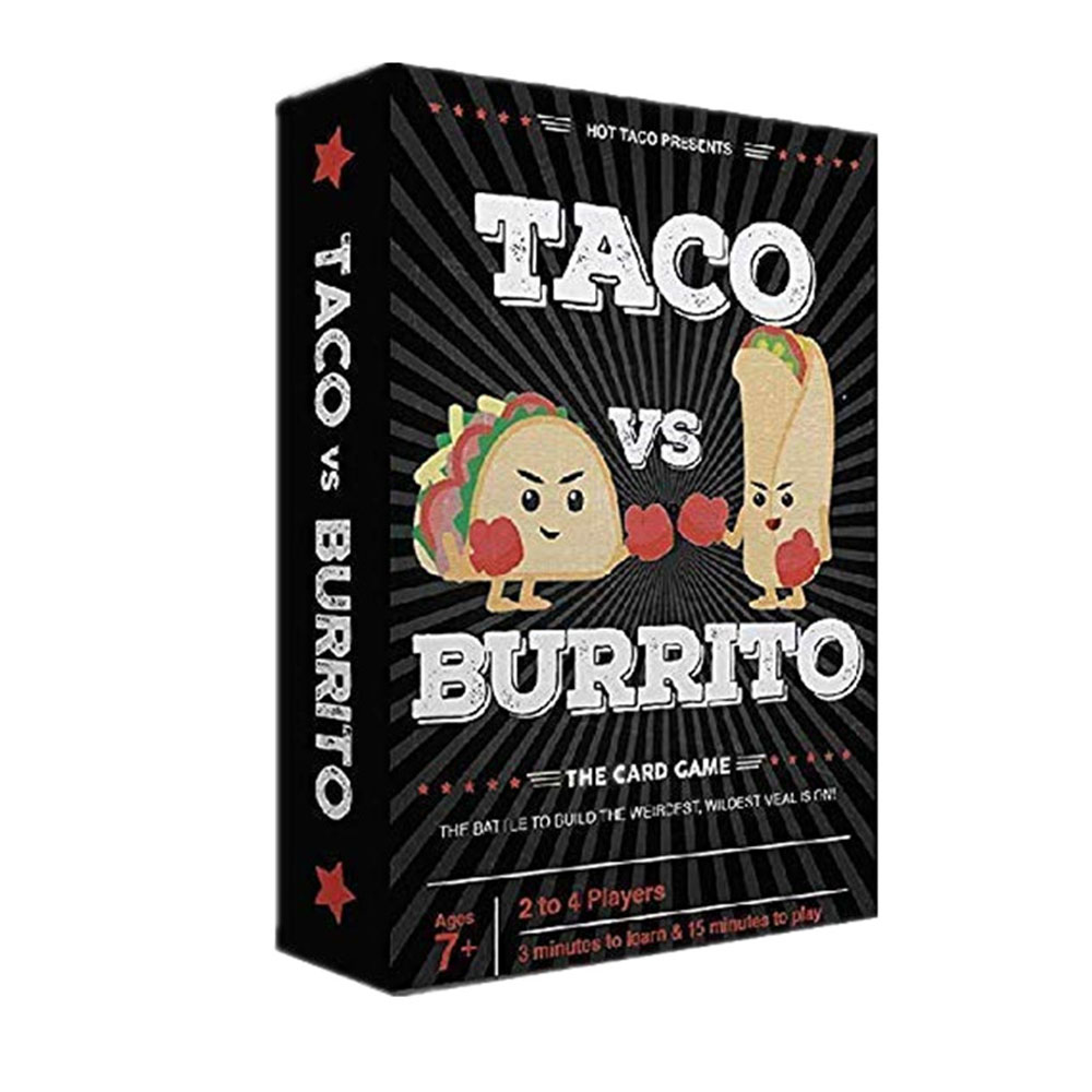 Taco Vs Burrito Board Game Children Wildly Popular Surprisingly Strategic Card Game Kids Friends Entertainment Party Card Games