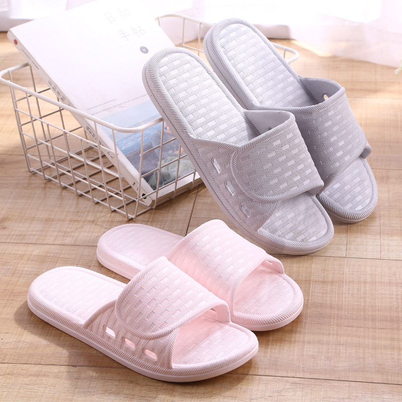 2019 New Minimalist Couples Home Slippers Slip Bathroom Slippers-TACOS