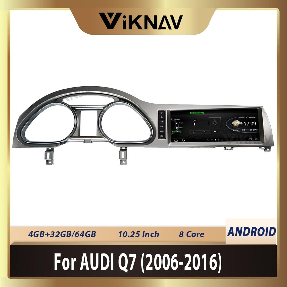 10,25 дюймов Android автомобильный радиоприемник с навигацией GPS для-AUDI Q7 2005 2006 2007 2008 2009 2010 - 2016 Android мультимедиа HD экран WIFI
