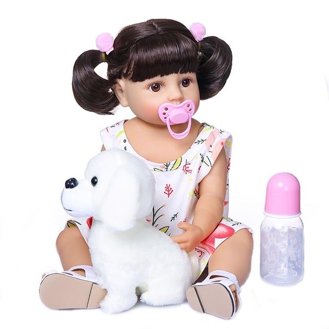 55 Centimetri Npk Dimensione Reale Del Bambino Molto Morbido Flessibile Corpo Pieno di Silicone Bebe Bambola Reborn Bambino Del Bambino Della Ragazza