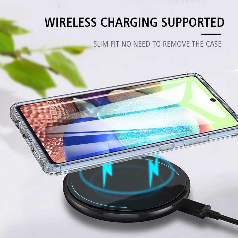 Di lusso Trasparente Antiurto Cassa Del Telefono Per Samsung Galaxy A71 5G UW Respingente di TPU con la cassa posteriore dura Scratch proof SM-A7156