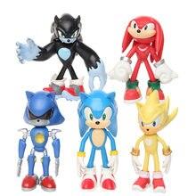 Figurines de dessin animé Sonic, 5 pièces/ensemble, poupées, cals, fards, Amy Rose, en PVC, modèle d'action, cadeau pour enfants