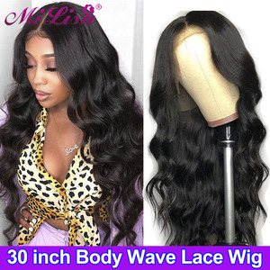 30 Inch Body Wave Wig Lace Front Human Hair Wig 13x4 Lace Frontal Wigs for Women Brazilian Remy Hair Mi Lisa 4x4 Closure Wig(China)