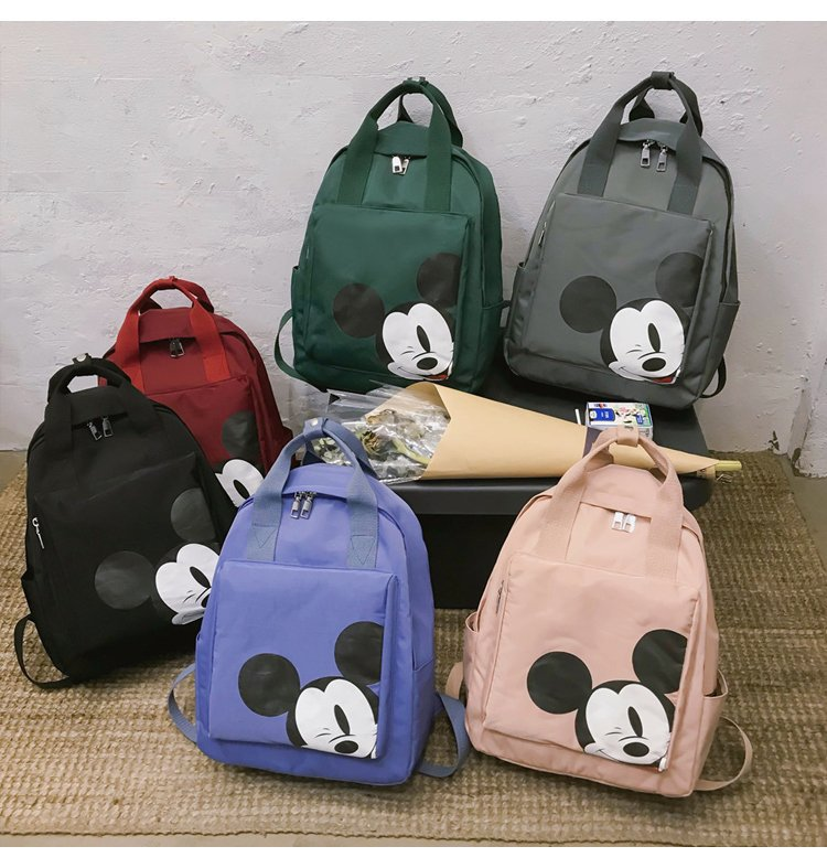 2019 Mickey Backpack Women Shoulder Bag Cartoon Ladies Travel Backpack Female Laptop Bag Storage Bag  Mochila Feminina Rucksack