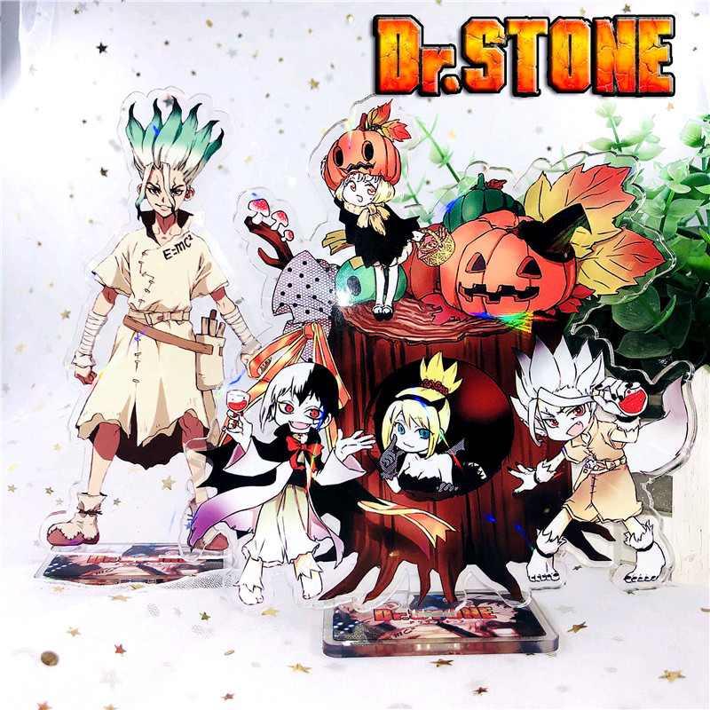 Anime Dr.Stone Display Stand Plate Cartoon Figure Acrylic Stand Holder Model