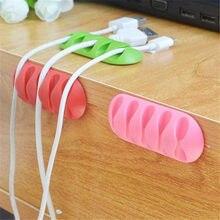 1PC multi-usages fil cordon câble range-câbles Drop Clips organisateur ligne Fixer enrouleur maison stockage organisateur