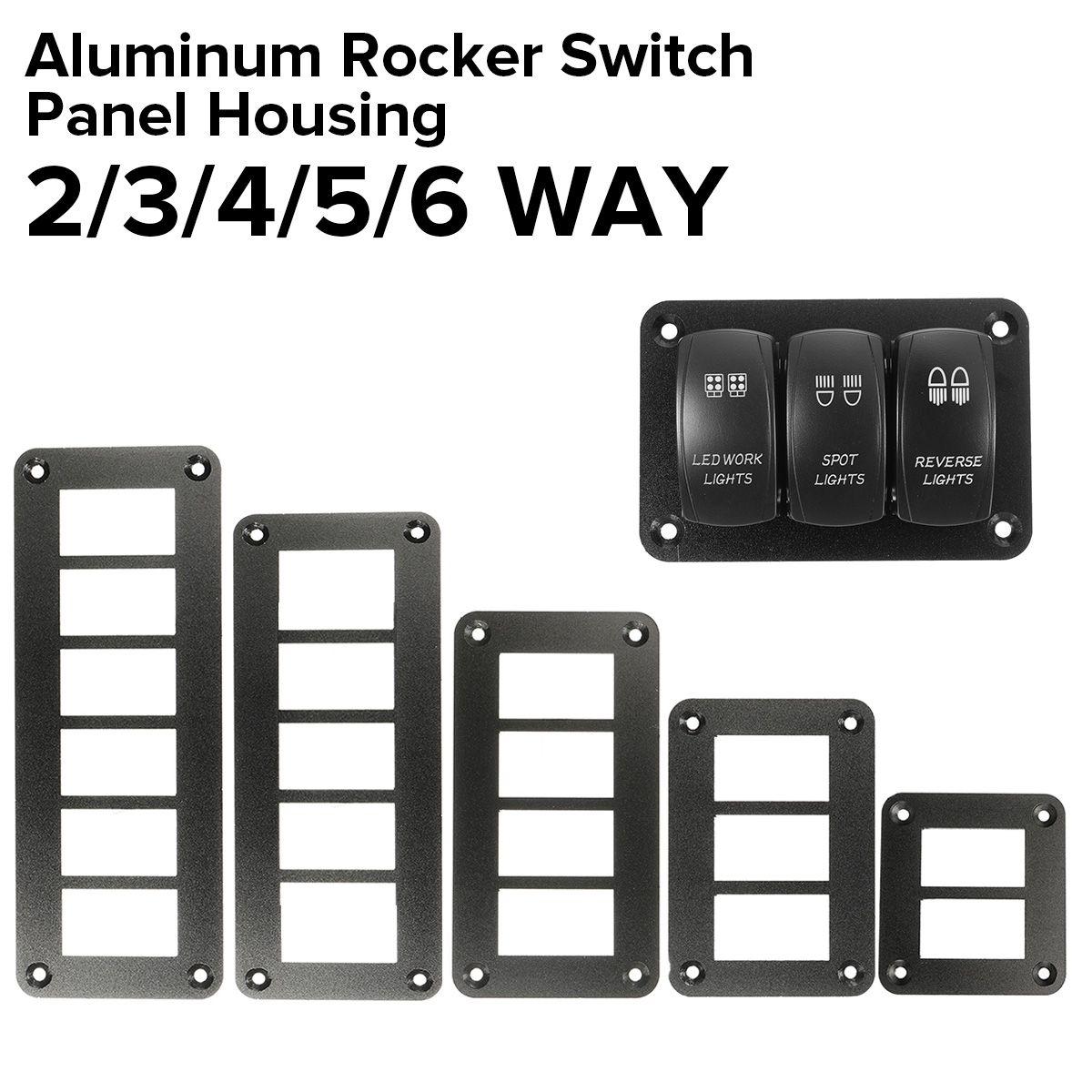 Aluminum 8 Gang Carling ARB Rocker Switch Dash Mount Holder Housing Panel