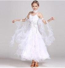 Standard Ballroom Dance Dresses Girls High Quality Waltz Competition Dancing Skirt Children Tango Dress