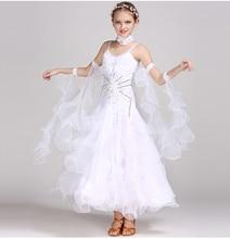 купить Standard Ballroom Dance Dresses Girls High Quality Waltz Competition Dancing Skirt Children Tango Ballroom Dance Dress по цене 4395.7 рублей