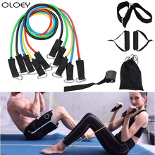 Resistance Bands Set Workout Muscle Exercise Latex Door Anchor Handles Ankle Straps Fitness Gym Boxing Sport Training Equipment
