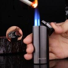 Jet Three nozzle Flame Torch Lighter Turbo Spray Gun Visible Gas Butane Smoke Lighter Windproof Cigar Cigarette Lighter For Man стоимость