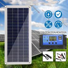 20W podwójny USB + DC elastyczny sterownik do baterii słonecznych wytwarzanie energii zestaw Panel fotowoltaiczny ładowarka samochodowa tanie tanio NONE CN (pochodzenie)