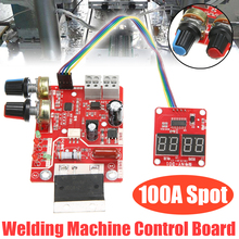 100A Digital Spot Welder Machine Time Control Board Spot Welding Adjust Time & Current Transformer Controller Panel Module