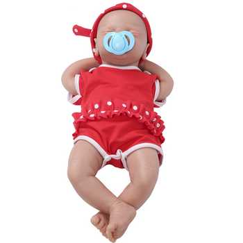 IVITA WG1514 46cm 2972g silicone soft realistic bebe reborn baby doll Similar Real girl eyes closed juguetes toys for children - DISCOUNT ITEM  24% OFF All Category