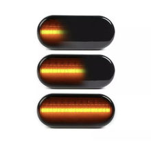 2X Clear/Smoke Len Amber Dynamic Flowing LED Side Marker Signal Light for Ford(China)