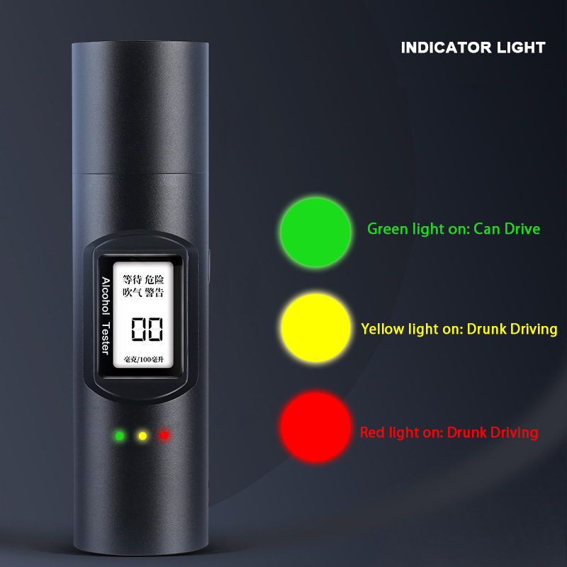 Alcohol Tester High Accuracy Digital Breathalyze LCD Display USB Charging Breath Alcohol Tester for Police Drunk Driver
