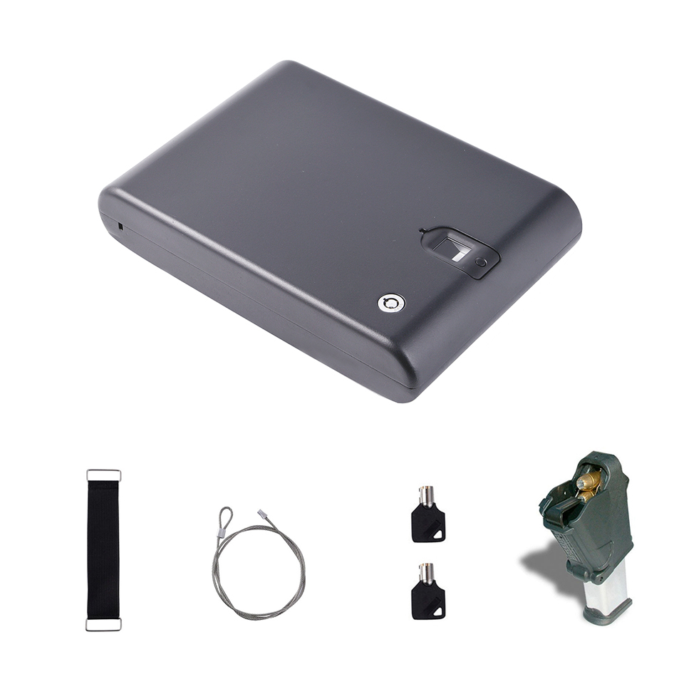 Biometric Optical Fingerprint Pistol Handgun Safe Lock Box OS100A