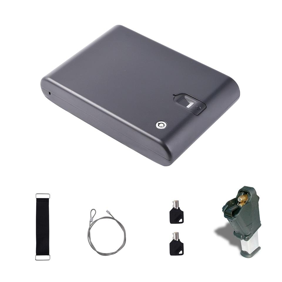 Biometric Optical Fingerprint Pistol Handgun Safe Lock Box OS100A
