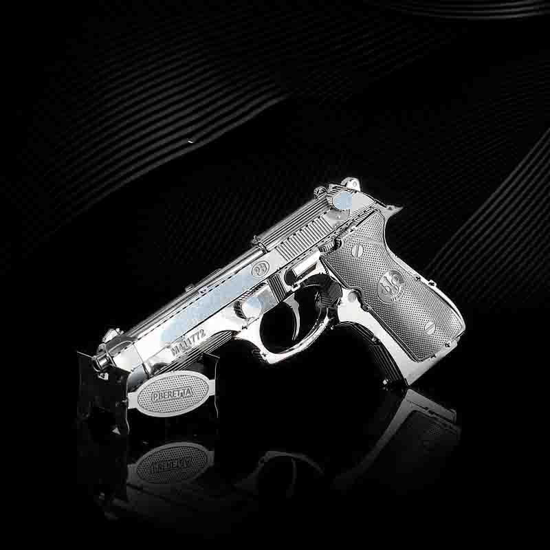 Metal Puzzle Pistol 3d Model Beretta 92 Pistol Metal Puzzle Adult Child Educational Toy Gift