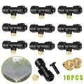 Латунный комплект сопел для запотевания 10x0 3 мм 10/24 UNC + 10x Slip-Lok насадка для запотевания + 1x набор штекеров E2S