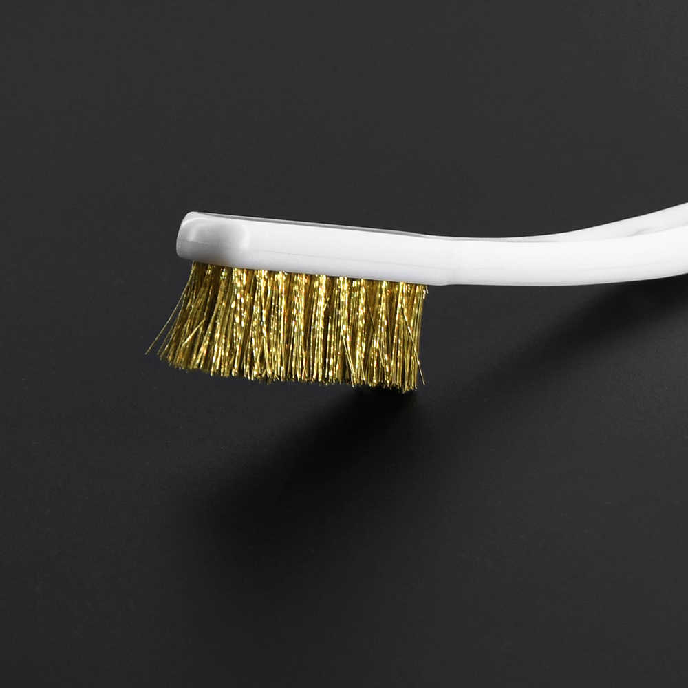 3D Drucker Reiniger Werkzeug Kupfer Draht Zahnbürste Kupfer Pinsel Griff Für Düse Block Hotend Reinigung Heiße Bett Reinigung Teile