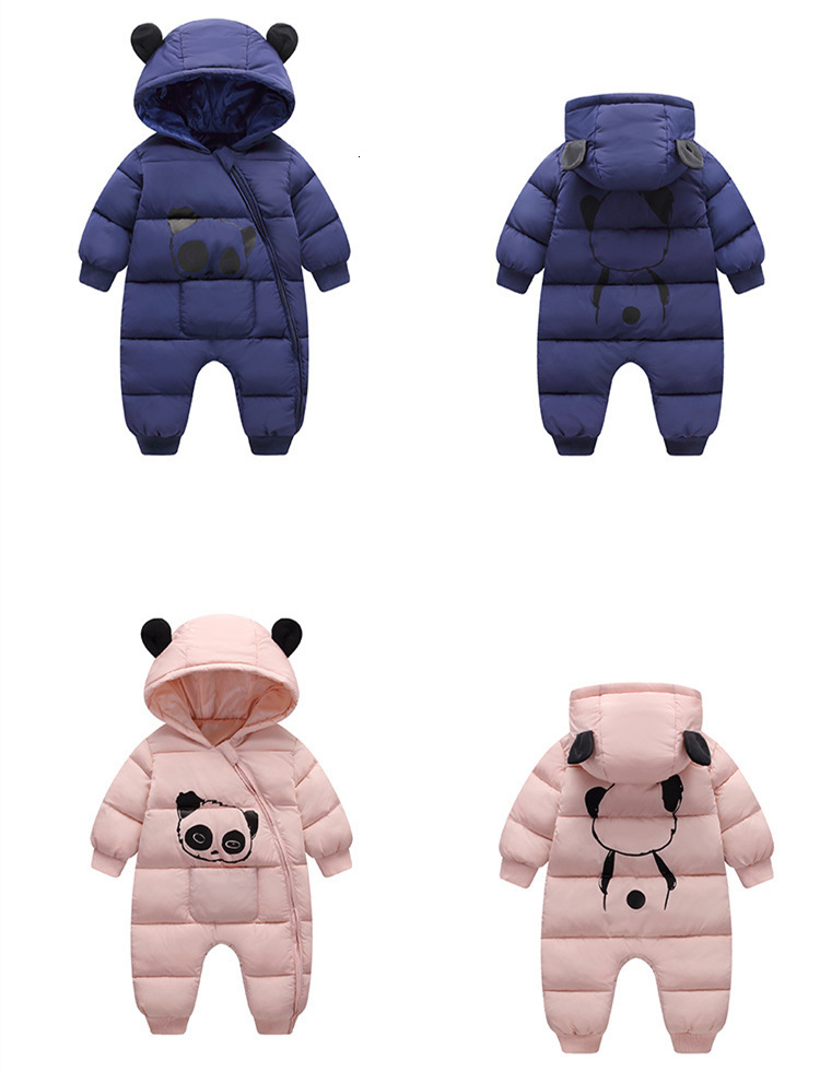 H58cdd0cf95a648f781c6a74dafee8efcu Baby boy girl Clothes 2019 New born Winter Hooded Rompers Thick Cotton Outfit Newborn Jumpsuit Children Costume toddler romper