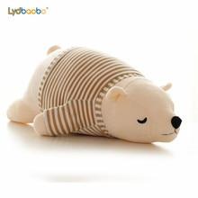 2019 neue Kawaii Dressing Polar Bär Plüsch Puppe Baby Super Weiche Angefüllte Tragbare Sleeping Bear Kissen Tier Plüsch Spielzeug Kinder geschenke